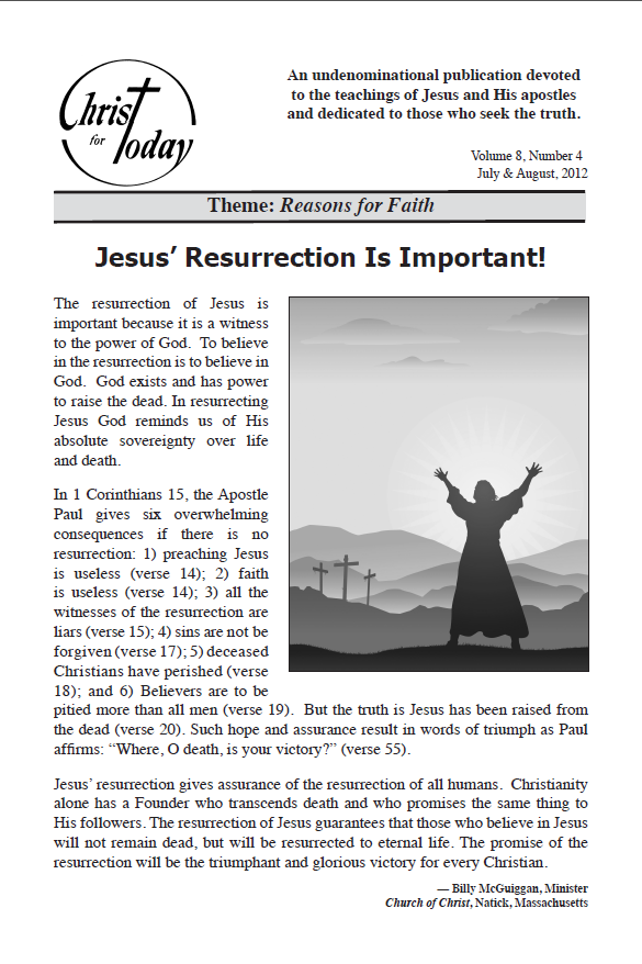 Christ for Today - July & August 2012